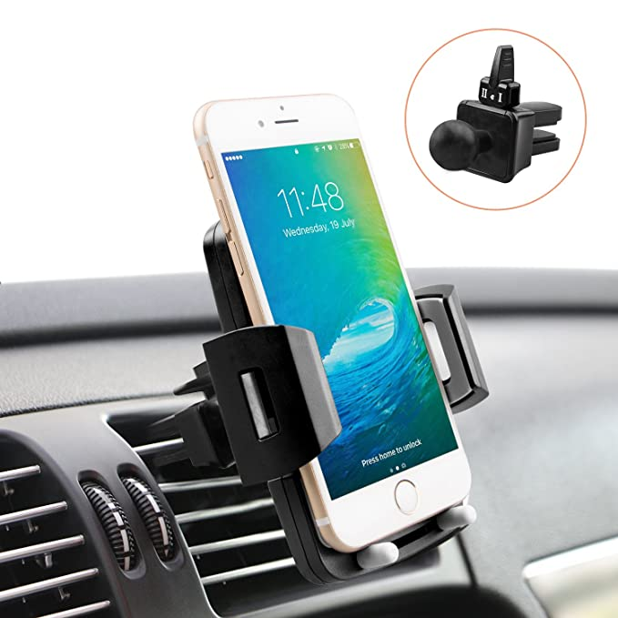 Universal Car Holder   Cell Phone Holder For Car   Quntis Car Phone Dash Mount   Car Air Vent Holder Cradle   360 Rotation Cell Phone Mount Compatible With Samsung Galaxy Lg Motorola Smartphones by Quntis