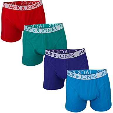 beauty most popular wide varieties Jack & Jones Mens Herbert 4 Pack Boxer Shorts in Red and Green