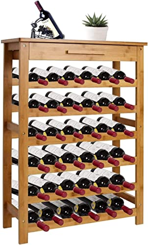 Kinsuite Bamboo Wine Rack Modular Wine Storage Holder Display Shelve
