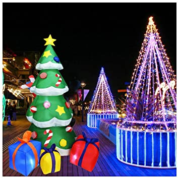 YUASIA 7 Pies LED Se Iluminan Árbol De Navidad Gigante Inflable ...