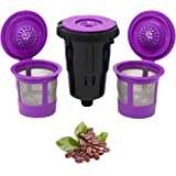 Reusable K Cups for Keurig K-Mini and K Mini Plus with Adapter by PureHQ | Keurig Mini Plus Refillable Kcups for Mini…