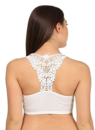 d94b19ec17819 Lace Stretchable Crop Tops   Blouse   Tank Top   Cut Out Padded Bra Bralet