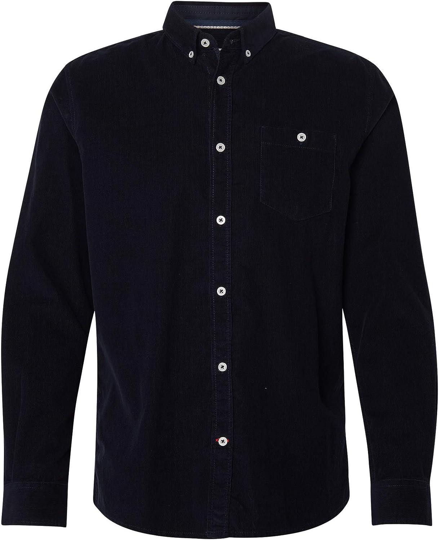 Tom Tailor Camisa para Hombre Azul Marino Real. L