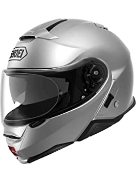 Shoei Casco Convertible Moto Neotec 2 Plain Light Plata (Xl, Plata)