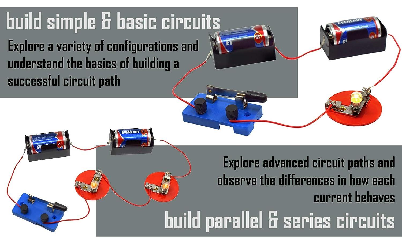 /Interruptor, soportes de luz, Kit b/ásico para circuito/ 2 C pilas w//soportes, 2 5/bombillas