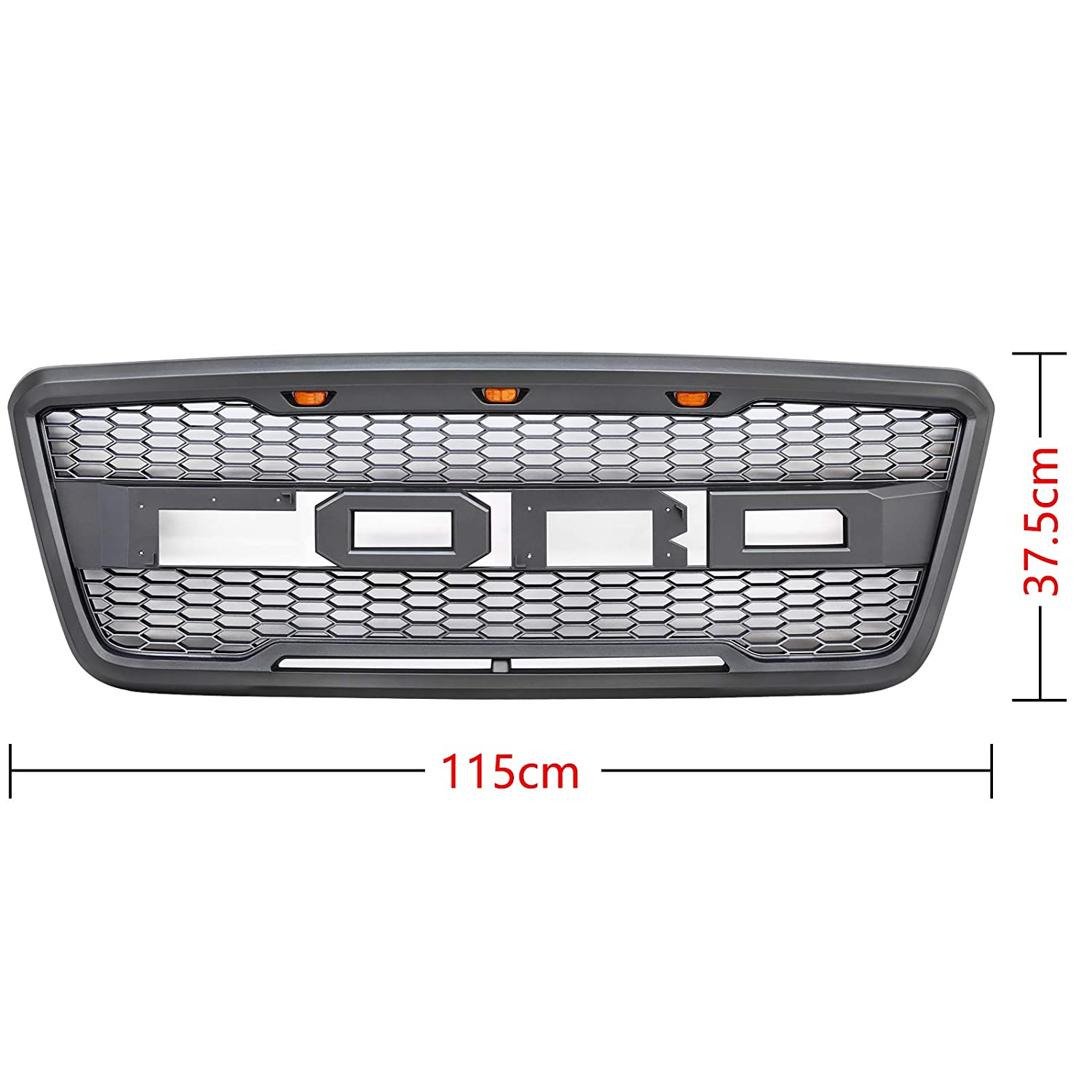Grey Raptor Style Grille VZ4X4 Front Grill For Fd F-150 2004-2008