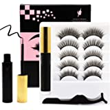 Venus Visage Upgraded Magnetic Eyeliner and Eyelashes Kit, Magnetic Eyelash with Eyeliner, False Lashes 5 Pairs with…