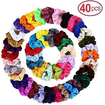 5X Velvet Elastic Hair Cord Tie Scrunchie Ponytail Holder Accessories Ladies