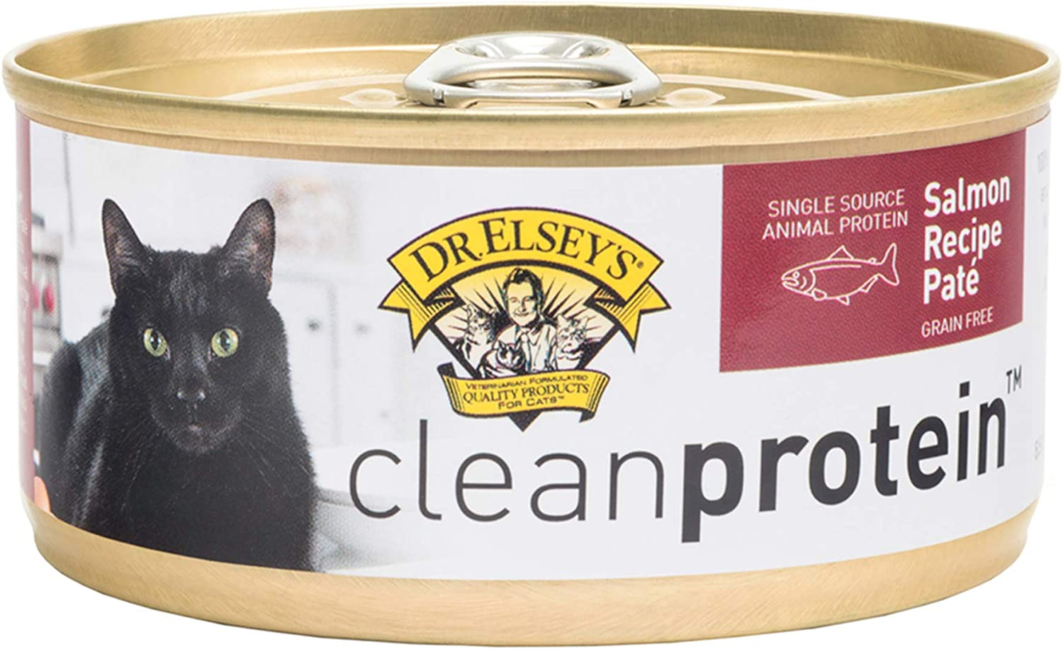 Dr. Elsey'S 03355 Clean Protein Grain Free Salmon Formula Canned Cat Food, 5.5 Ounce (Pack Of 24)
