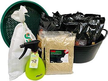 Regenwürmer Rundum-Sorglos-Paket mit 0,5 kg Wurmmix Dendrobena