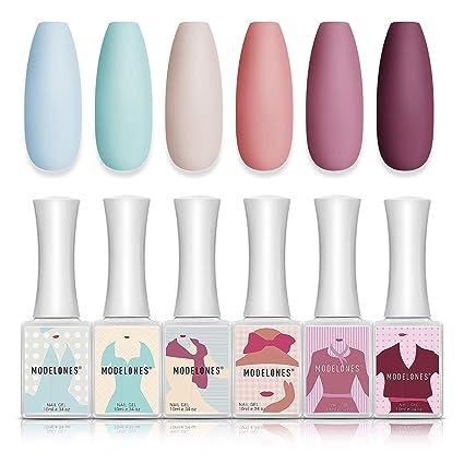 Amazon.com : Gel Nail Polish Soft Pastel Gel Polish 6 PCS 10 ML Pink Blue Colors Soak Off Gel Polish Set : Beauty