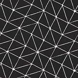 Tissu coton cretonne graphique origami - Noir