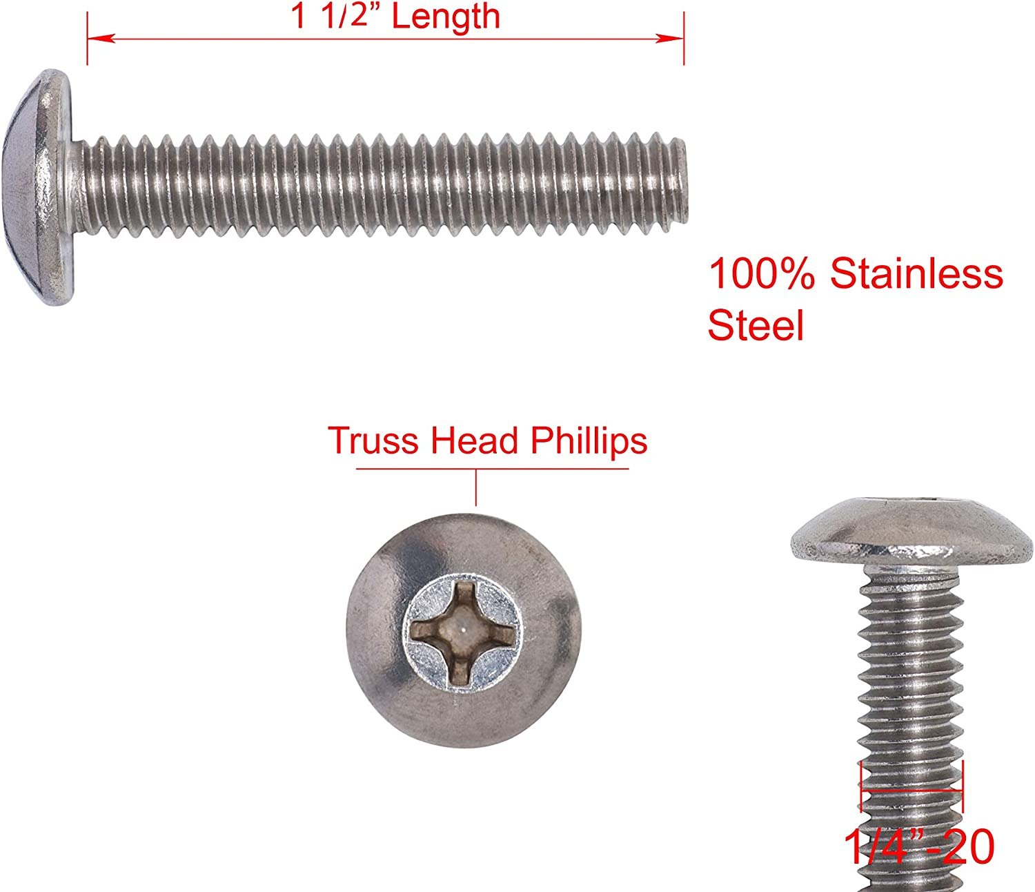 """20 PIECES  4-40 X 1/"""" THE  2/""""  STAINLESS STEEL PHIL FLAT HEAD M//S WITH HEX NUTS"""