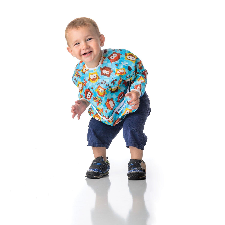 Washable Rainbows 6-24 Months Waterproof Stain and Odor Resistant Bumkins Sleeved Bib//Baby Bib//Toddler Bib//Smock