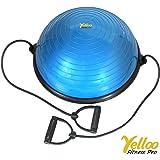 PILATES BALL Palla PRO Trainer Balance Trainer Con ELASTICI Yoga Fisioterapia Colore BLU