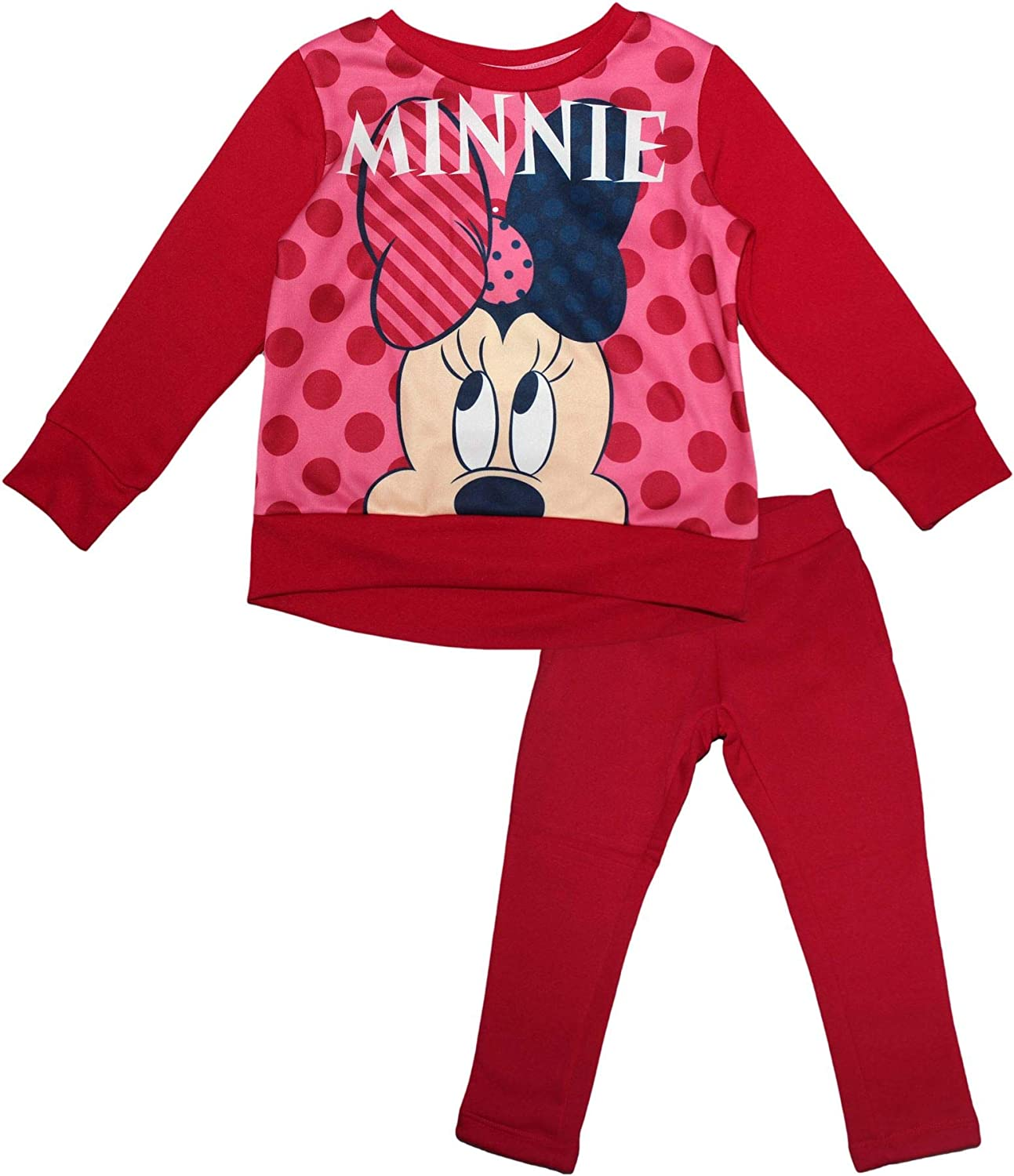 Disney Minnie Mouse Girls Chrildrens Hey Tracksuit Set