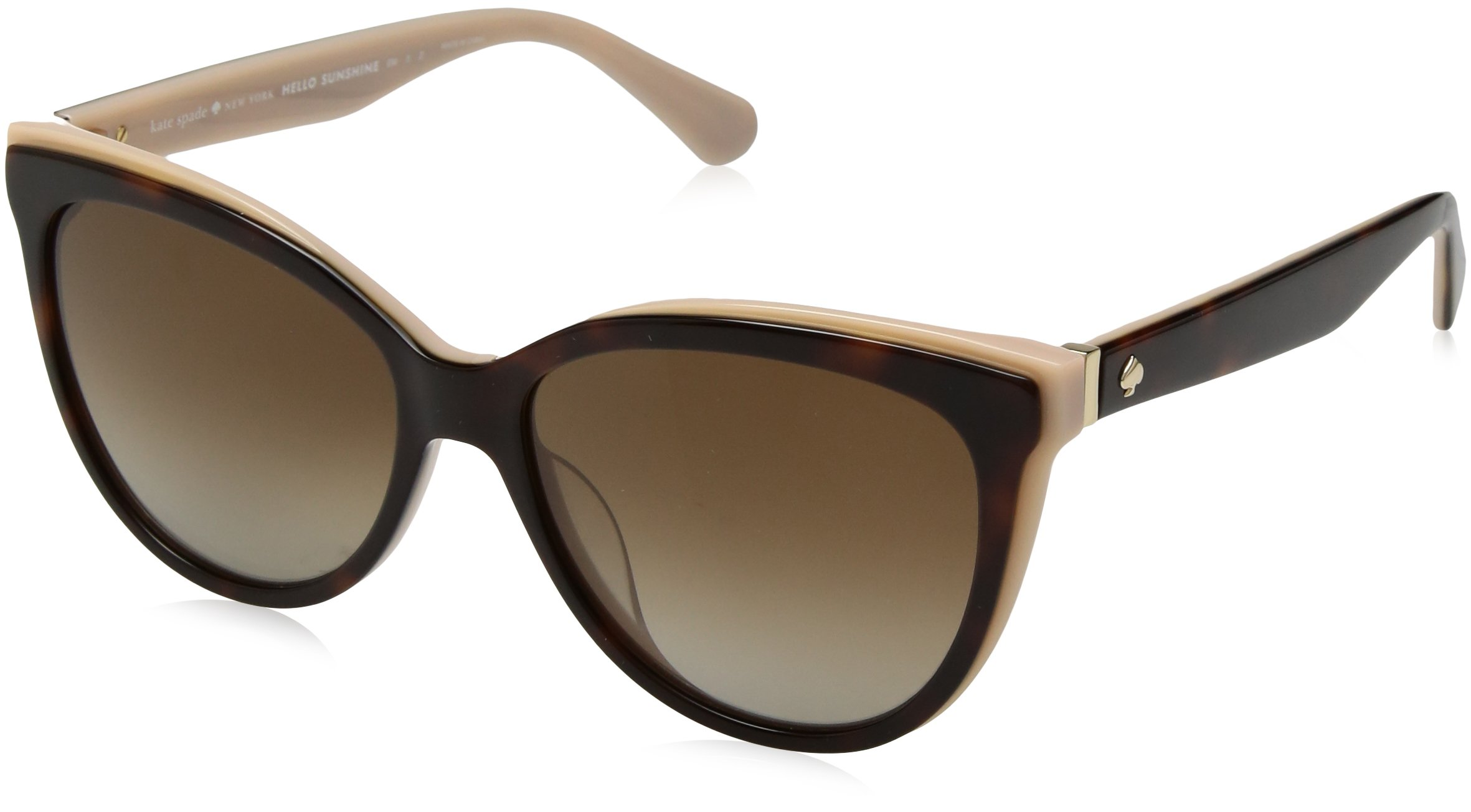 Kate Spade Women's Daesha/s Polarized Round Sunglasses, Havana Pink, 56 mm by Kate Spade New York