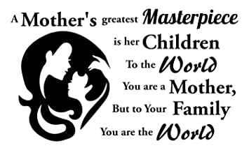 Amazoncom Mother Quote Wall Decal Is Green Vinyl Wall Decals