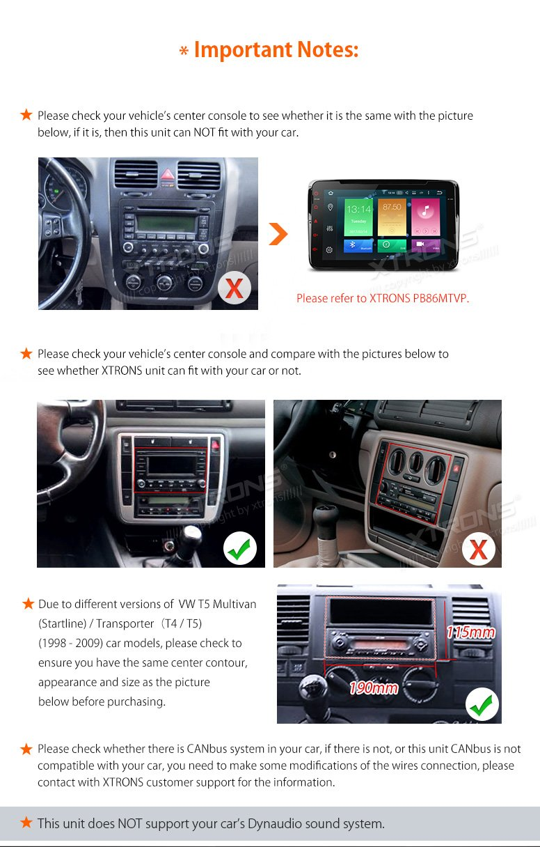 XTRONS Android 6.0 Octa-Core 64Bit 7 Inch Capacitive Touch Screen Car Stereo Radio DVD Player GPS CANbus Screen Mirroring Function OBD2 Tire Pressure Monitoring for VW Passat B5 MK3/4/5 by XTRONS (Image #4)