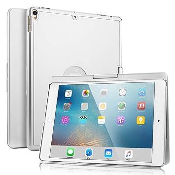 SENGBIRCH iPad Pro 10.5 Teclado Funda, Estuche Rígido con 360 Grados de Inteligente con 7 Colores Retroiluminado Inglés Teclado Bluetooth para iPad ...