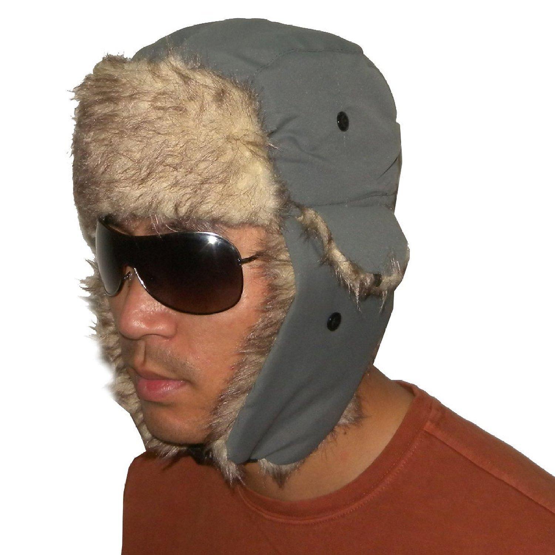Unisex Weatherproof Warm Winter Faux Fur Pilot Trapper Trooper Ski Hat