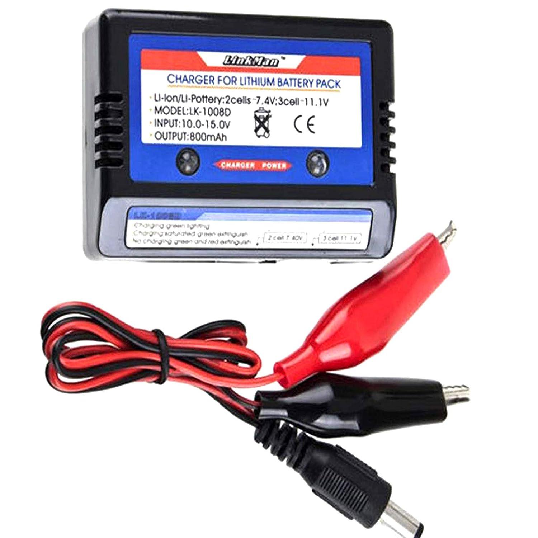 ONOGAL Cargador lipo Balanceador de Baterias 7,4v 11,1v para ...