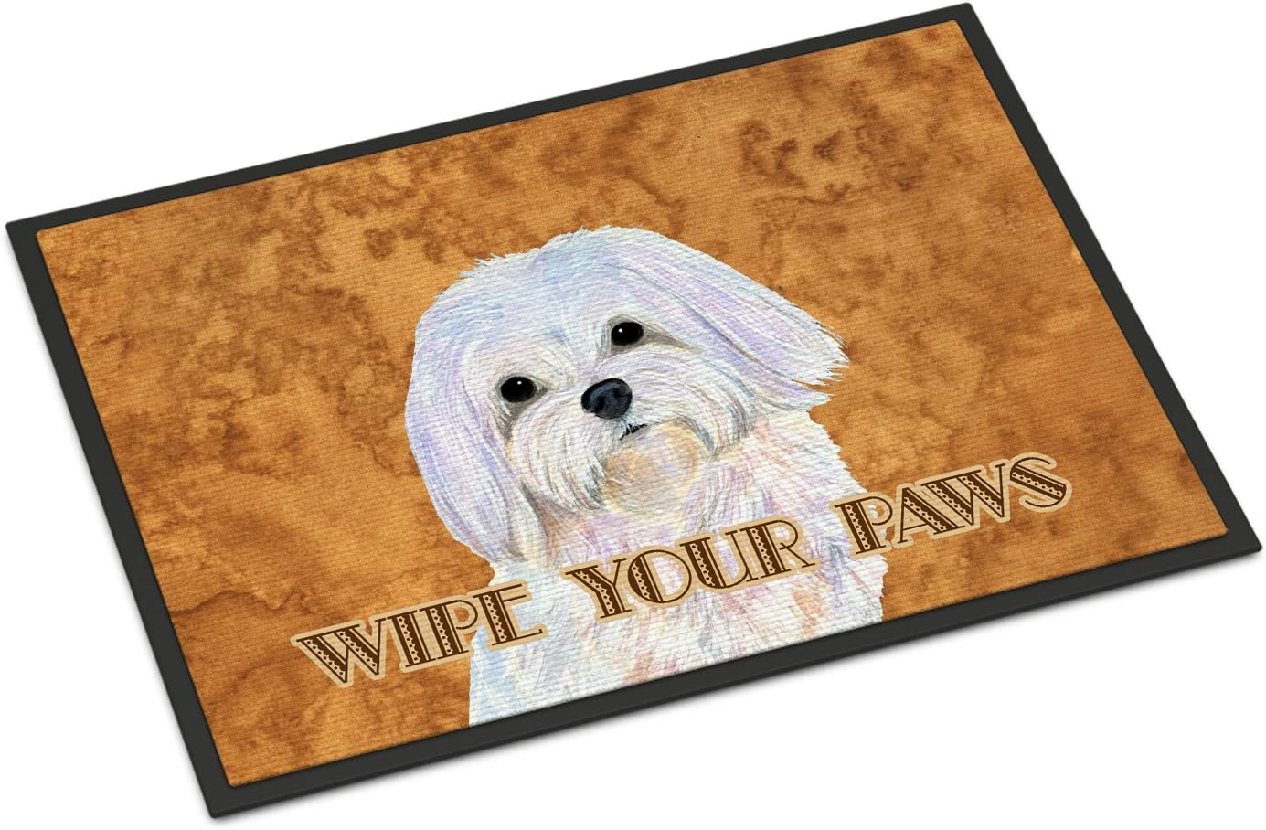 Caroline s Treasures SS4897MAT Puppy Cut Maltese Wipe Your Paws Indoor or Outdoor Mat 18×27, 18H X 27W, Multicolor