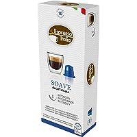Cápsulas de Café Soave Decaffeinato Espresso Italia, Compatível com Nespresso, Contém 10 Cápsulas