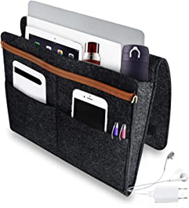 Supkiir Bedside Caddy Organizer - Heavy Duty Buckles for Bunk Bed, Two Easy Ways of Installation, Perfect for College Dorm Room