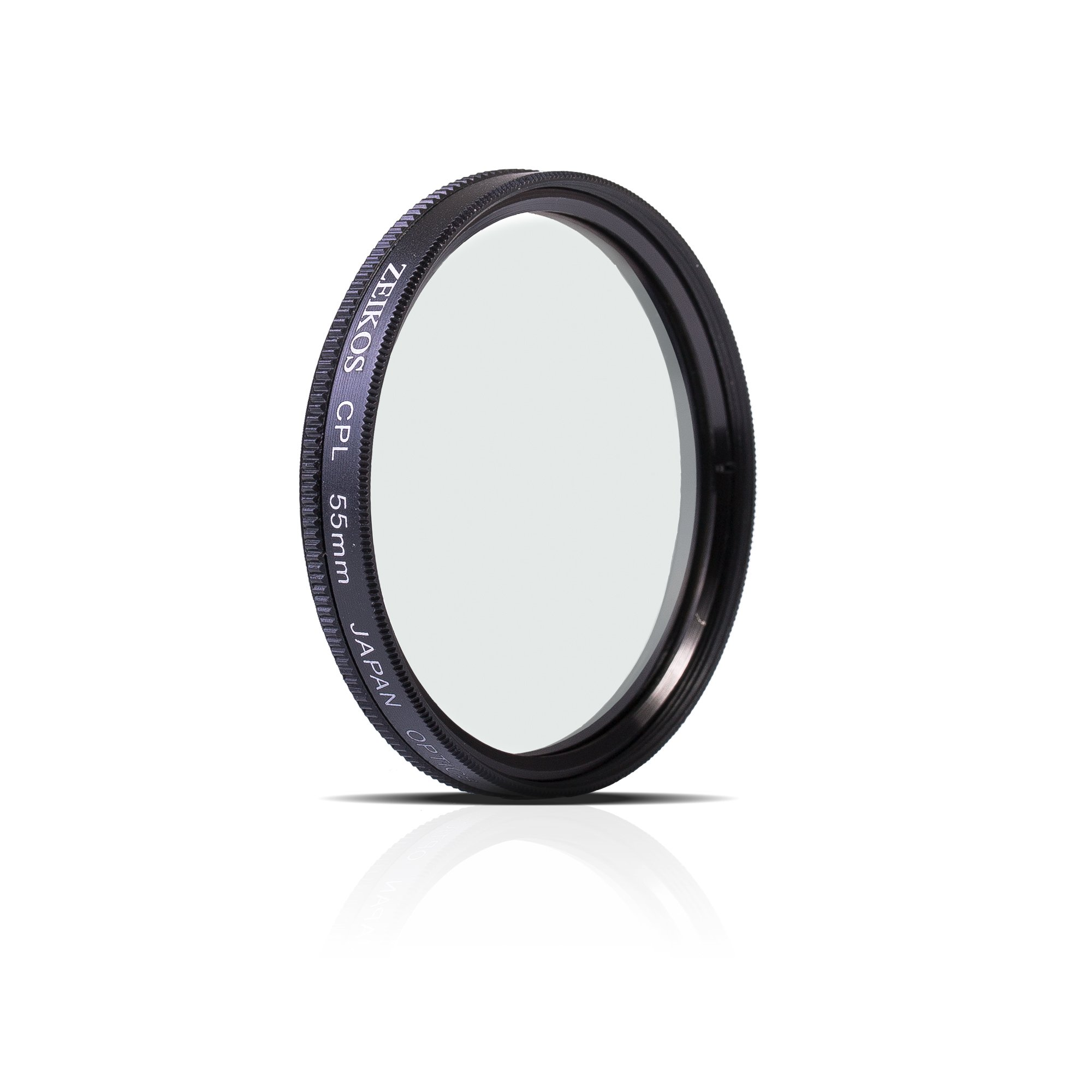Zeikos 55mm Multi-Coated Circular Polarizer CPL Glass Filter w/ Rotating Mount For Nikon AF-P DX NIKKOR 18-55mm, Nikon 1 NIKKOR 10-100mm & Tamron AF 90mm f/2.8 Di by Zeikos