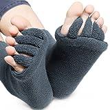 edgeam Wellness Unisex Toe Socks Toe Toe Spreader Holder Flip Flops PEDICURE FOOT MASSAGE Health gray