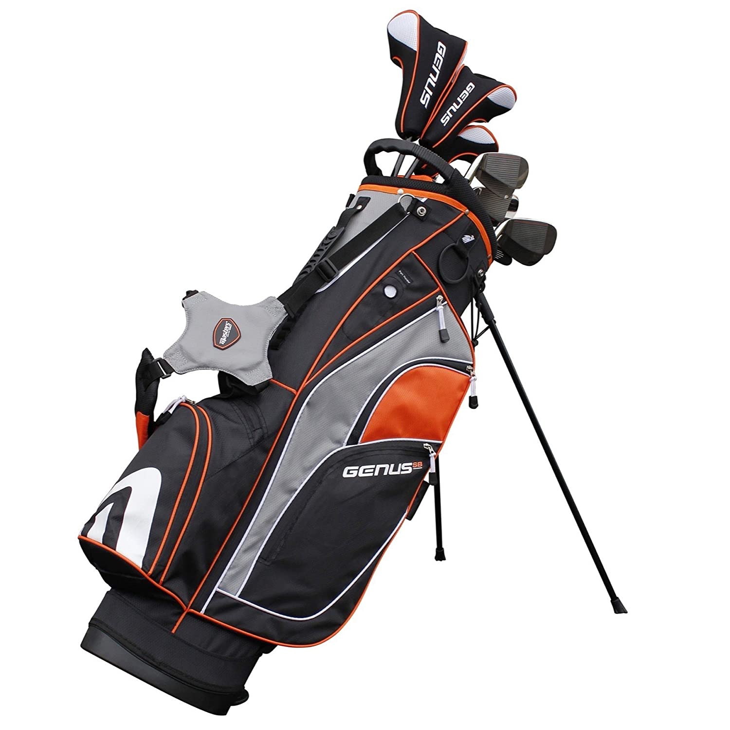 Masters Genus Mens Package Set Right Handed Steel with Stand Bag