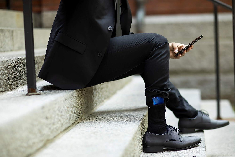 TCK Brands Stash /& Dash Performance Zip Pocket Crew Socks