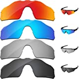 333861d223297 PapaViva Polarized Lenses Replacement for Oakley Radar EV Pitch 4 Pieces  Packed