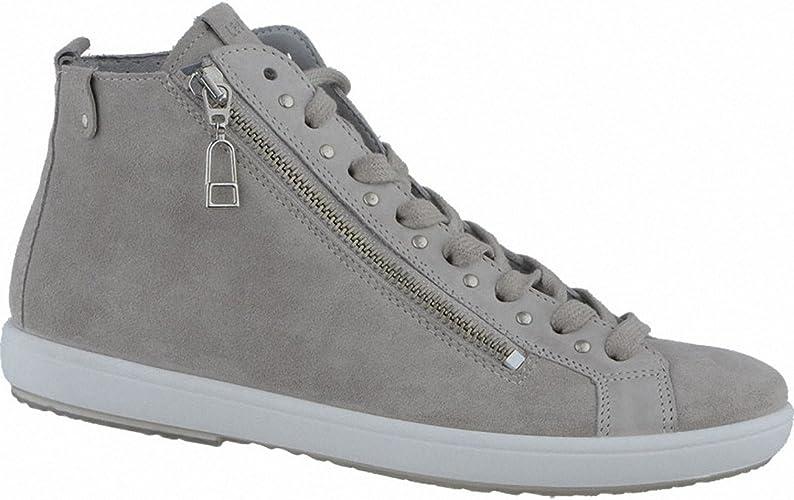 LEGERO Damen Leder Sneakers white, Comfort Weite G, Leder