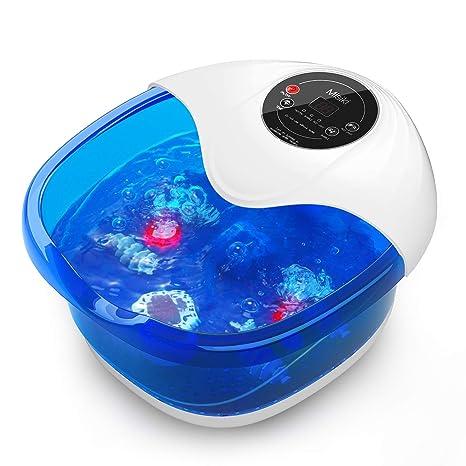 Misiki Fußbad mit Heizung, Fußsprudelbad, Massage mit Wärmefunktion und Vibration