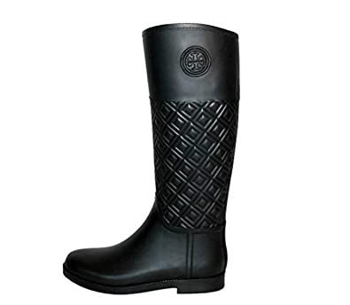 ea3c79af949 Tory Burch Marion Quilted Rainboot Boots Rain Shoes (9