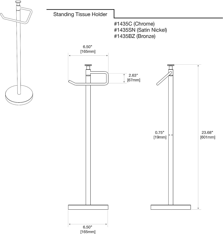 23.5 Gatco 1435BZ Standing Tissue Holder Bronze