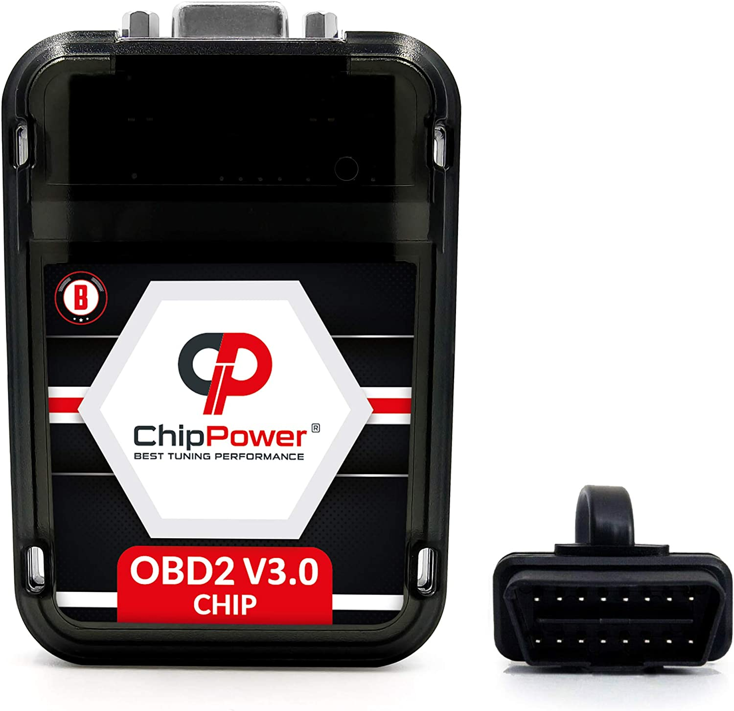 Chiptuning ChipPower OBD2 v3 mit Plug/&Drive f/ür Duster II 1.0 TCe 100 74 kW 101 PS 2019 Tuningbox Benzin Chip Tuning Mehr Leistung Weniger Verbrauch