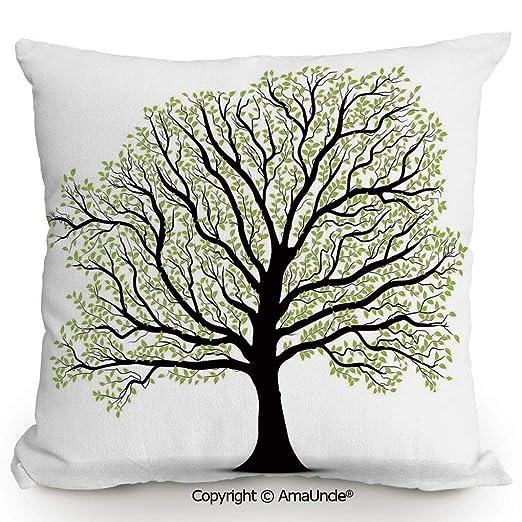 AmaUncle - Funda de almohada cuadrada decorativa con algodón ...