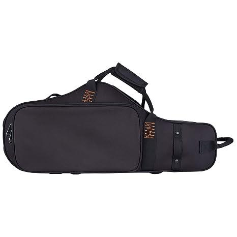 Protec Alto Saxophone Contoured PRO PAC Case with Flute Pocket, Black, Model PB304CT