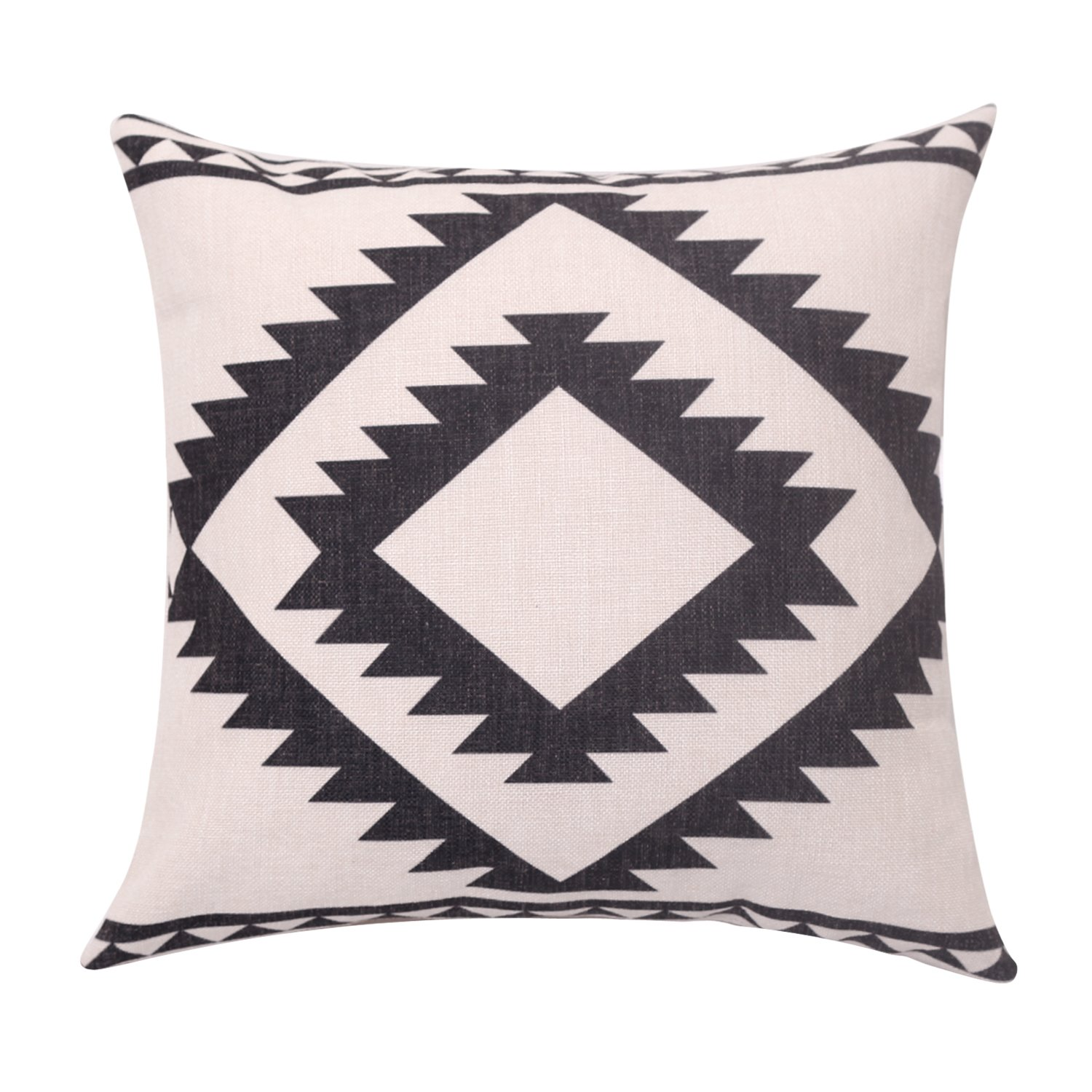 BreezyLife Aztec Throw Pillow Cover Tribal Decorative Pillow Case Square Linen Cushion Cover for Sofa Couch Farmhouse Outdoor Housewarming Gift 22x22 Inches