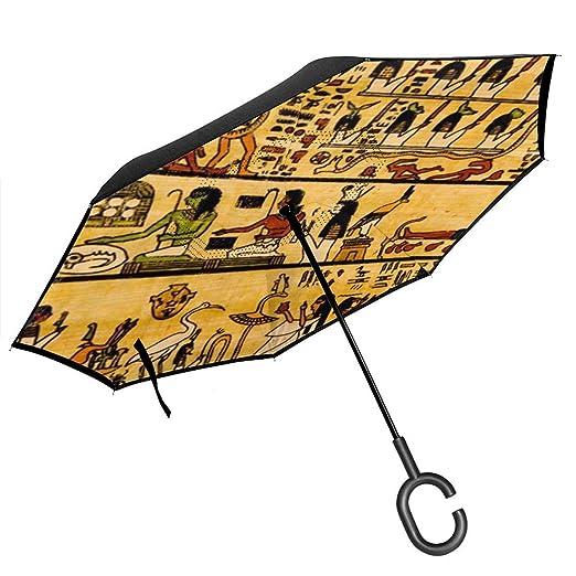 Csiemns Paraguas Reversible Retro Africano invertido al revés ...