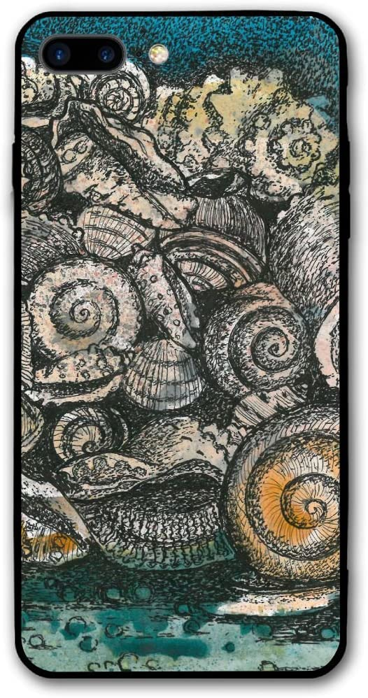 Watercolor Snail Human Brain iPhone 8 Plus/iPhone 7 Plus Case,Hard PC Protective Graphic Design Mobile Phone Shell 3D Print Case Cover 5.5 Inch for iPhone 7P / 8P