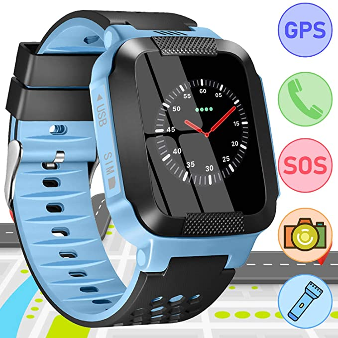 Kids Smart Watch Phone GPS Tracker for Kids Boys Girls with SOS Call Camera Pedometer Smartwatch Wristband Birthday Gifts Anti-Lost Alarm Clock Wrist ...