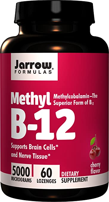 Jarrow Formulas Methylcobalamin (Methyl B12), Supports Brain Cells