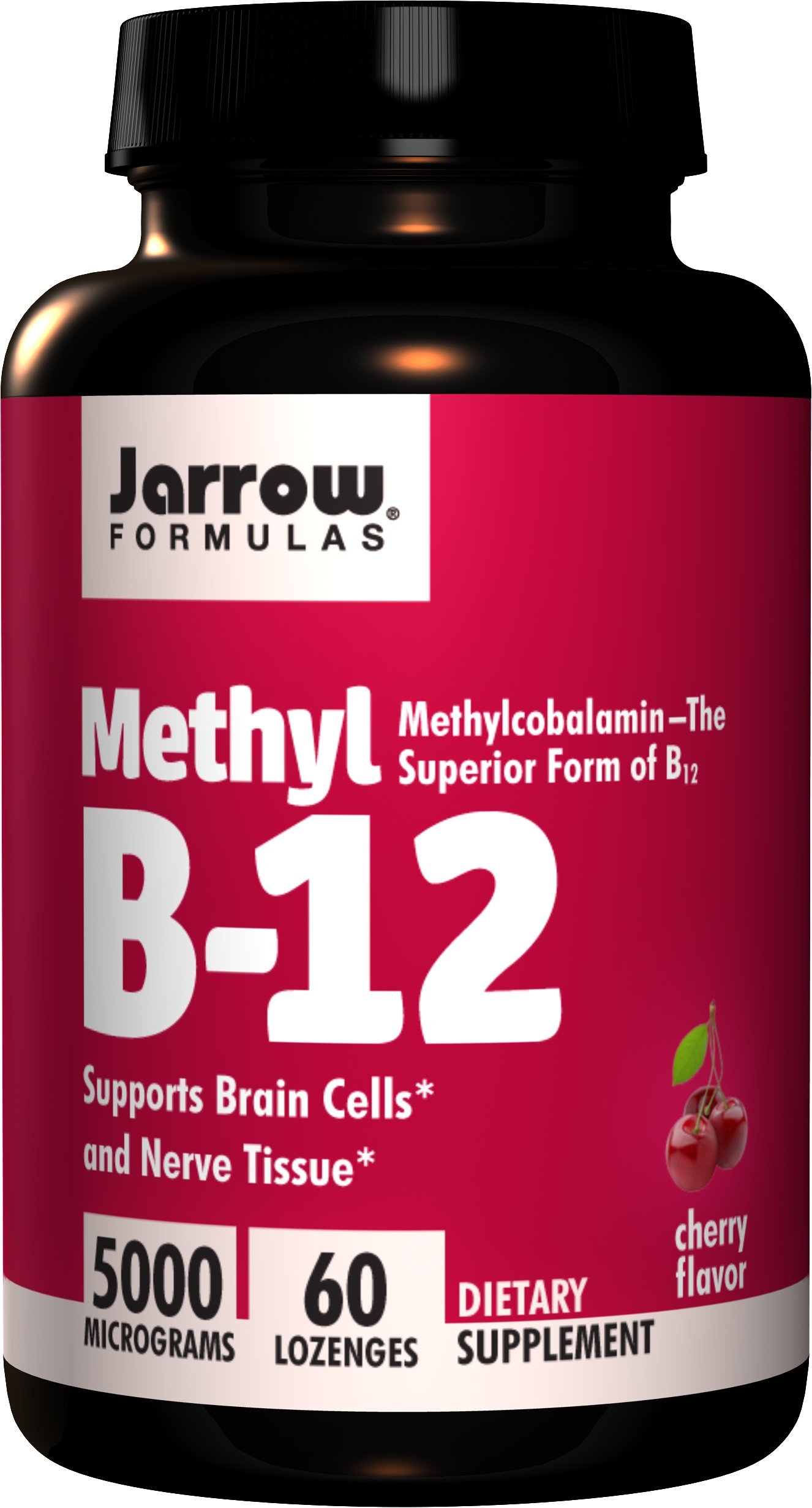 Jarrow Formulas Methylcobalamin (Methyl B12), Supports Brain Cells, 5000 mcg, 60 Lozenges by Jarrow Formulas