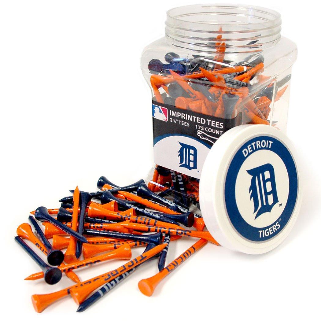 Team Golf MLB Detroit Tigers 2-3/4'' Golf Tees, 175 Pack, Regulation Size, Multi Team Colors