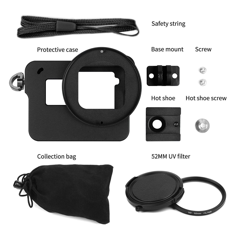 Jinserta Multifuction Cnc Cooling Shell Frame Case For Xiaomi Yi 4k Ii Action Camera Xiao 2