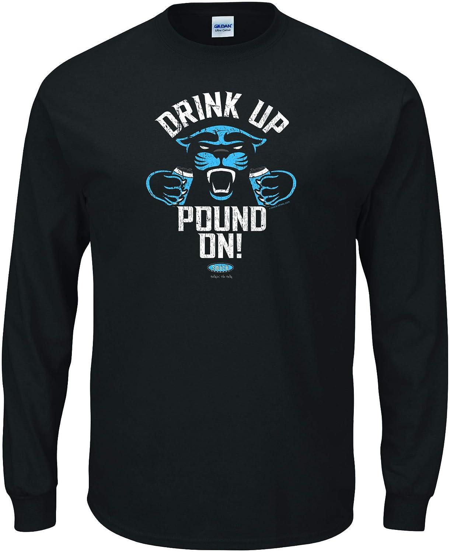 Black T-Shirt Drink Up Pound On Carolina Football Fans Sm-5X